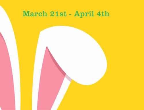 BELMONT BUNNY HOP IS MARCH 21ST – APRIL 4TH