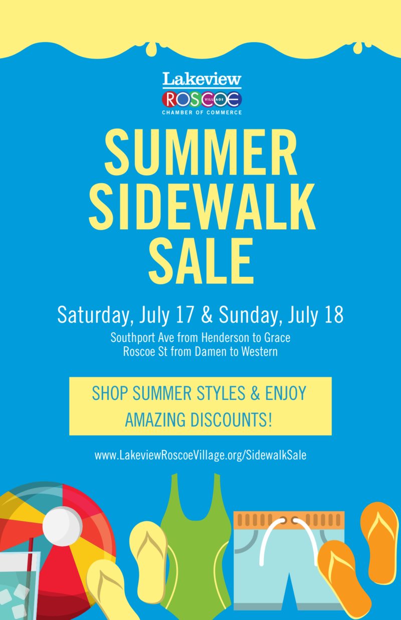 Roscoe Village Sidewalk Sale