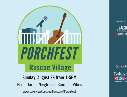 PorchFest Roscoe Village is August 29th